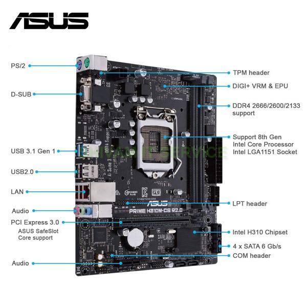 asus prime h310m cs mother board 3