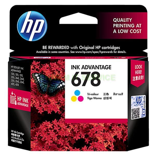 hp 678 tri colour ink cartridge