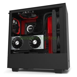 nzxt h510i gaming cabinet black/Red
