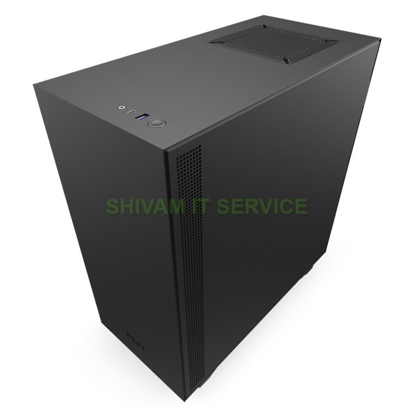 nzxt h510i gaming case black red 2