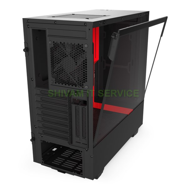 nzxt h510i gaming case black red 3