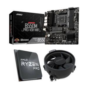 AMD Ryzen 5 PRO 4650G and MSI B550M PRO-VDH WiFi Combo