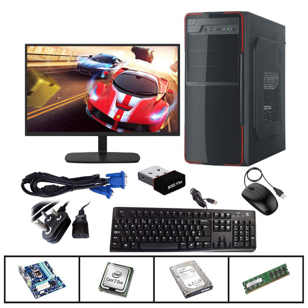Intel Core 2 Duo CPU 4GB RAM 500GB HDD Wifi Assembled Desktop PC