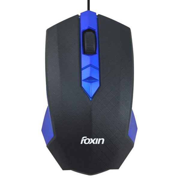 Foxin Smart Blue Wired Optical Mouse