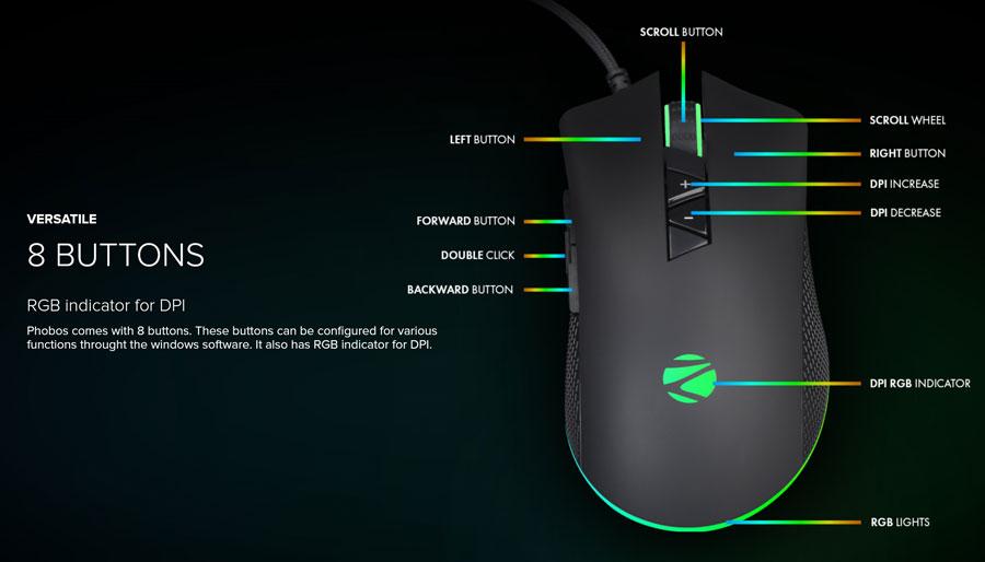 zebronics phobos usb gaming mouse 8
