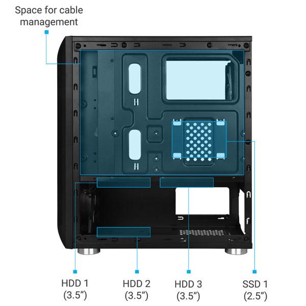 zebronics zeb avid gaming cabinet 6