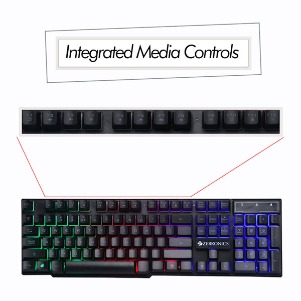 zebronics zeb fighter gaming keyboard mouse combo 4