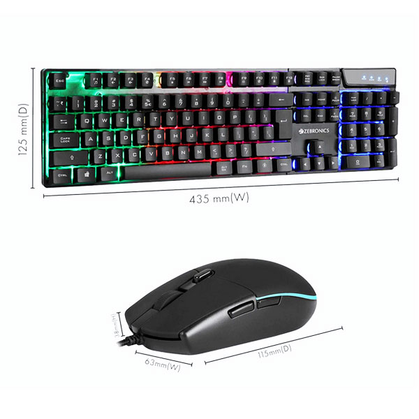zebronics zeb war gaming keyboard mouse 3