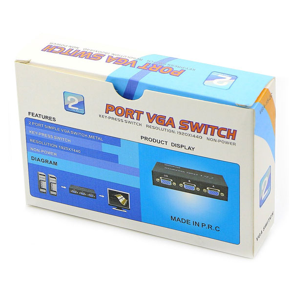 2port vga switch with out adapter 4