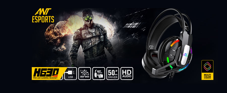 Ant Esports H630 RGB Gaming Headset