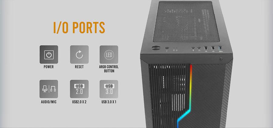 antec nx230 argb gaming cabinet 10