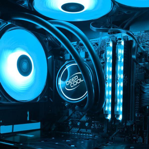 deepcool gammaxx l120t blue liquid cooling 5