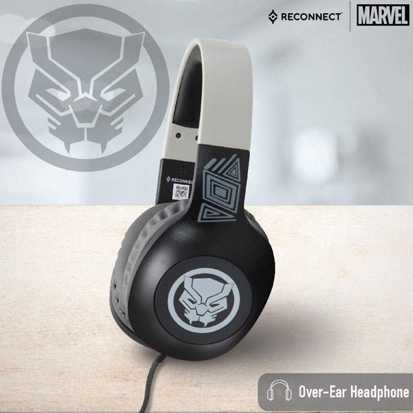 Reconnect 101 Marvel Black Panther Wired Headphone