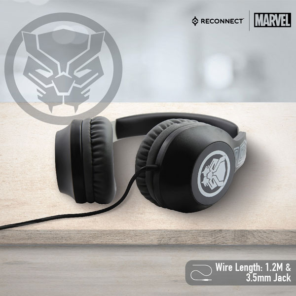 reconnect 101 marvel black panther wired headphone 3