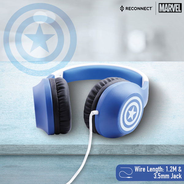 reconnect 101 marvel captain america wired headphone 3