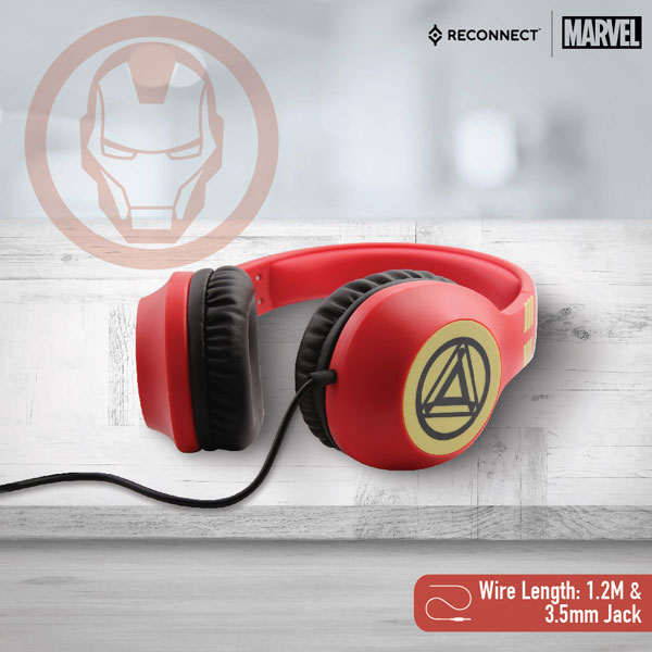 reconnect 101 marvel iron man wired headphone 3