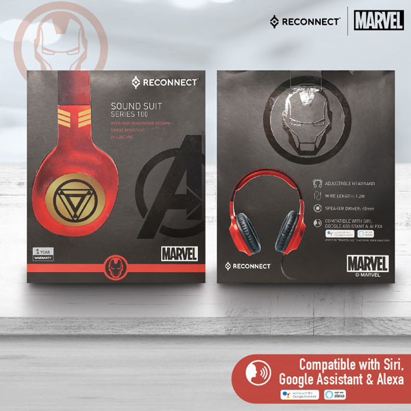 reconnect 101 marvel iron man wired headphone 5