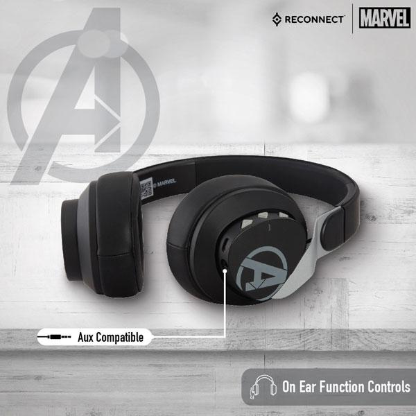 reconnect 501 marvel avengers wireless headphone 3