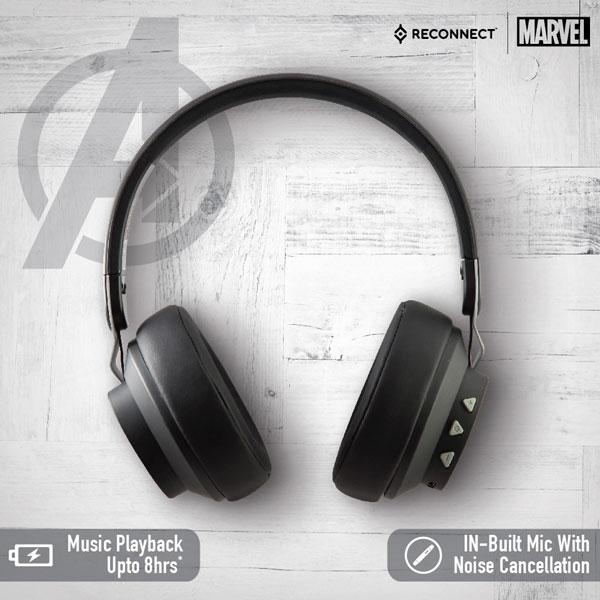 reconnect 501 marvel avengers wireless headphone 5