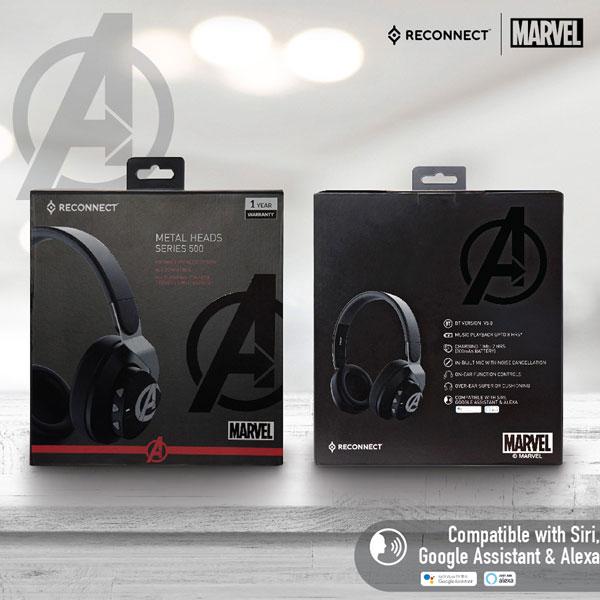 reconnect 501 marvel avengers wireless headphone 6