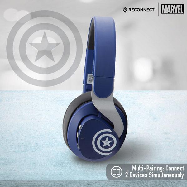 Reconnect 501 Marvel Captain America Wireless Headphone