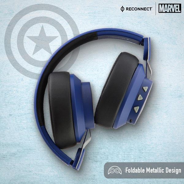 reconnect 501 marvel captain america wireless headphone 2