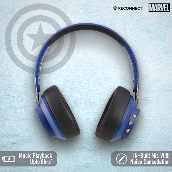 reconnect 501 marvel captain america wireless headphone 5
