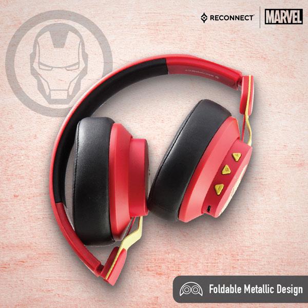reconnect 501 marvel iron man wireless headphone 2