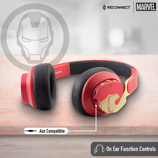 reconnect 501 marvel iron man wireless headphone 3