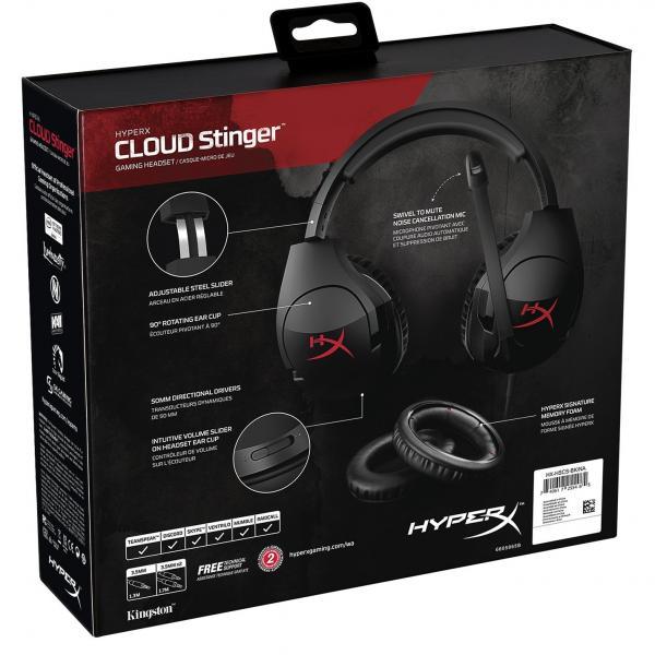 hyperx cloud stinger black gaming headset 8