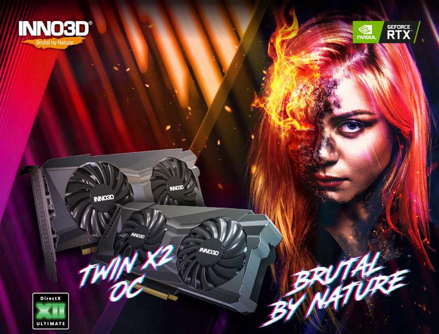Inno3d RTX 3060 Ti Twin X2 OC 8GB GDDR6 256-bit Gaming Graphics Card