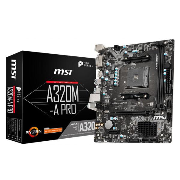 MSI A320M-A PRO AMD AM4 Socket m-ATX Motherboard