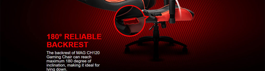 msi mag ch120 gaming chair black red 12 1