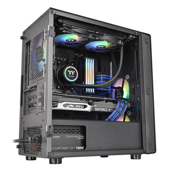 thermaltake s100 mid tower gaming cabinet 2