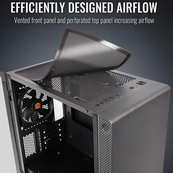 thermaltake s100 mid tower gaming cabinet 6