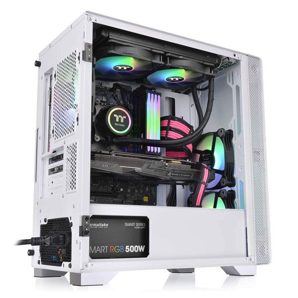 thermaltake s100 mid tower gaming cabinet white 2