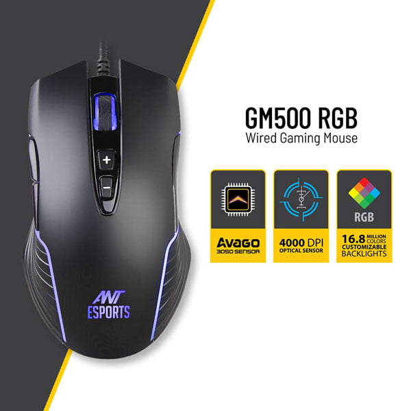 ant esports gm500 rgb gaming mouse 2