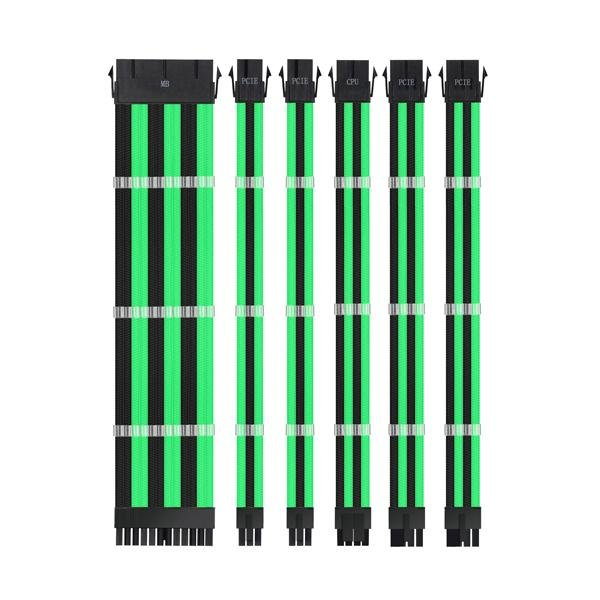 Ant Esports MODPRO Sleeve Cable Kit 30 CM Extension Cable (Green – Black)