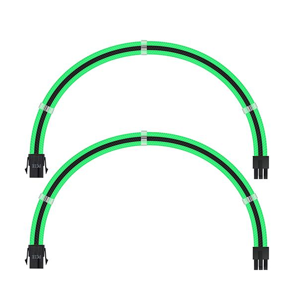 ant esports modpro sleeve cable kit 30 cm extension cable green black 4