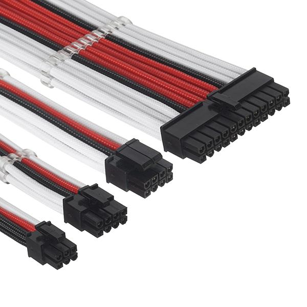ant esports modpro sleeve cable kit 30 cm extension cable red black 6