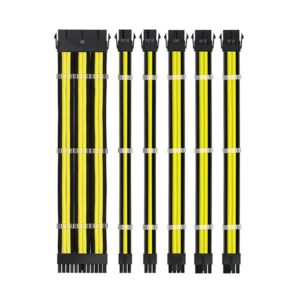 Ant Esports MODPRO Sleeve Cable Kit 30 CM Extension Cable (Yellow – Black)
