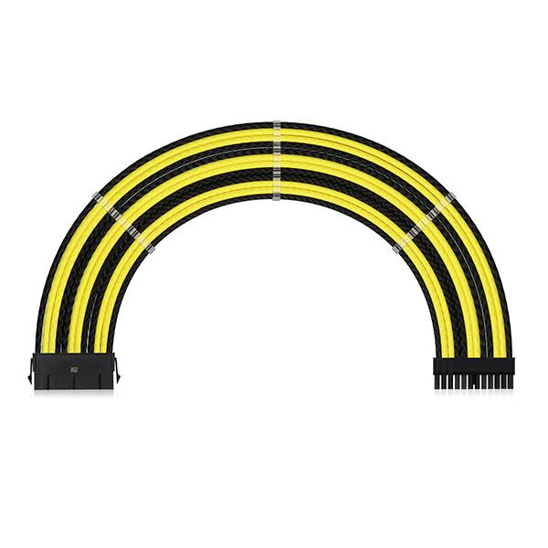 ant esports modpro sleeve cable kit 30 cm extension cable yellow black 2