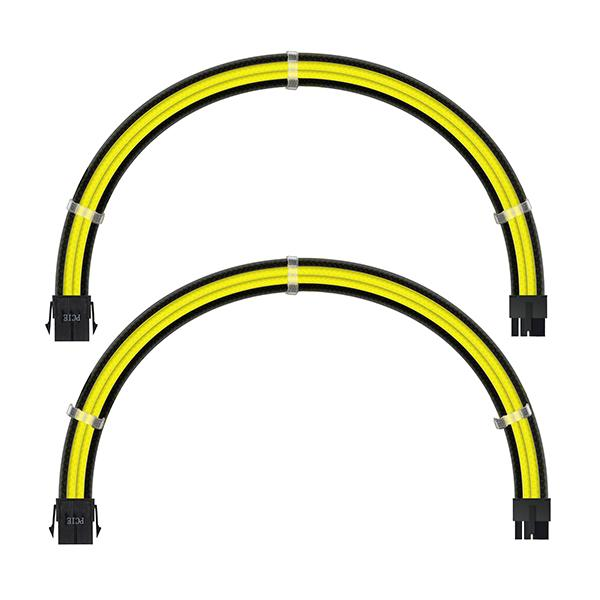 ant esports modpro sleeve cable kit 30 cm extension cable yellow black 3