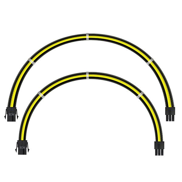ant esports modpro sleeve cable kit 30 cm extension cable yellow black 4