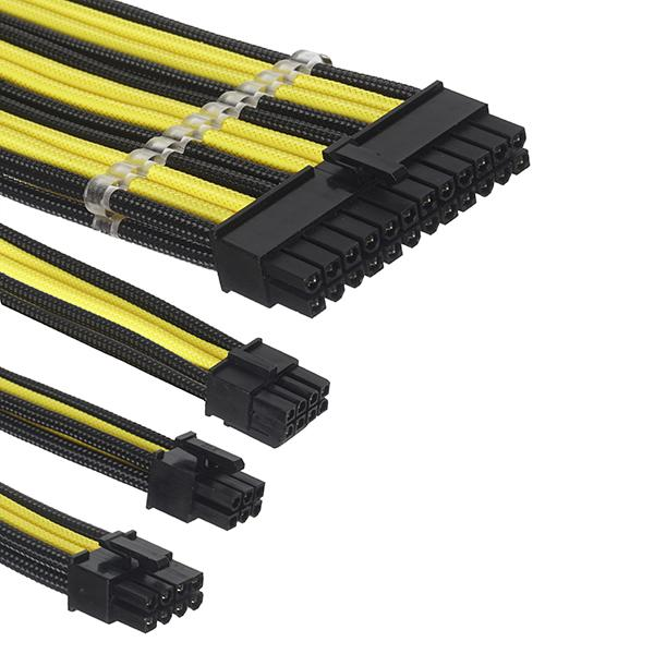 ant esports modpro sleeve cable kit 30 cm extension cable yellow black 5