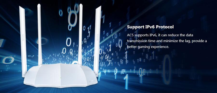 Tenda AC5 AC1200 Smart Dual Band Gigabit WiFi Router
