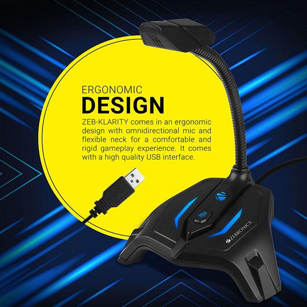 zebronics zeb klarity usb gaming mic 5