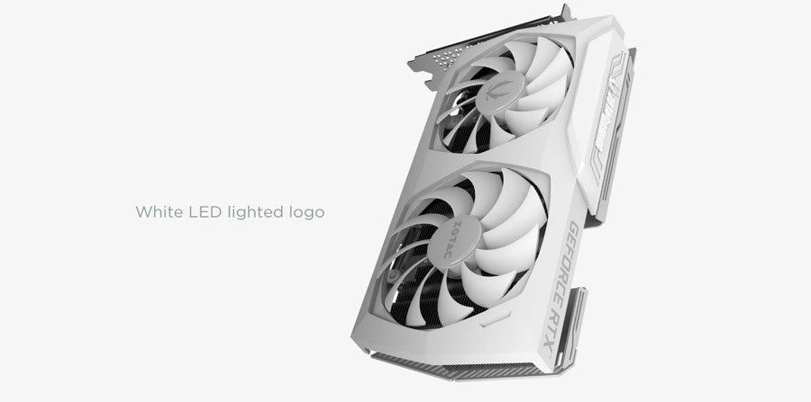 ZOTAC Gaming Geforce RTX 3060 AMP White Edition Graphics Card ZT-A30600F-10P
