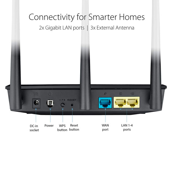 asus rt ac53 ac750 dual band wifi router 3