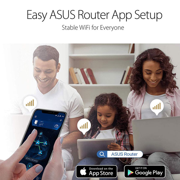 ASUS RT-AC59U V2 - AC1500 Dual Band Gigabit WiFi Router with MU-MIMO, AiMesh for mesh WiFi System and Parental Controls